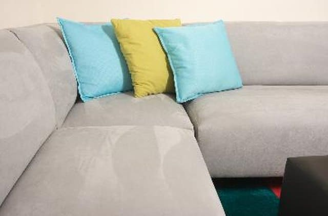 clean suede couch